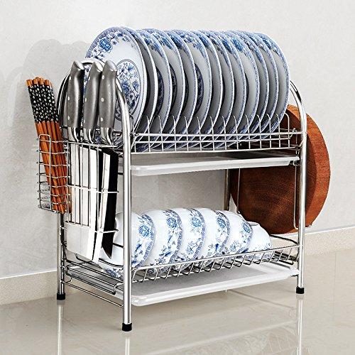 WANG-shunlida Doppelzimmer Küche Hutch Drainboard 304 Edelstahl Regal Regal Aufbewahrungsbox, Einem kompletten Satz von grundlegenden Mittel (Hutch Regale)