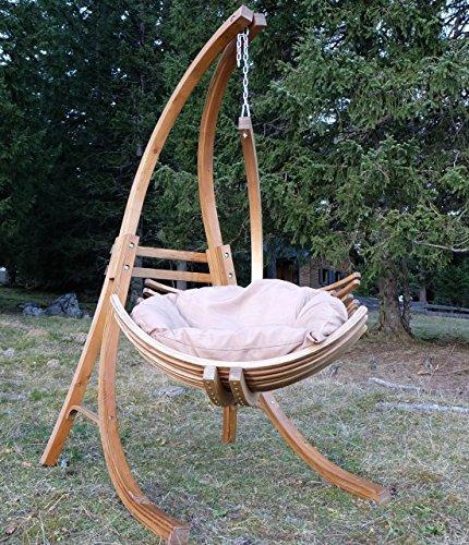 CONCEPTION Pendaison demeure en bois de mélèze avec Pendaison chaise et modèle rembourré: 'BEATA Limited1'