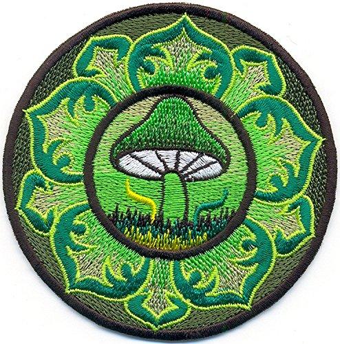 Pilz Psychedelic Boho Hippie Retro Love Peace Weed Shrooms Trance bestickt Aufnäher Patches (Tasche Weed Kostüm)