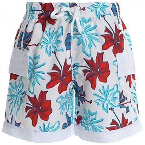 Weiße Baumwolle Junge Kurze (Jungen Kinder Cargo Kurze Hose Bermuda Shorts Capri Vintage Sport Strech 20372, Farbe:Weiß;Größe:170)