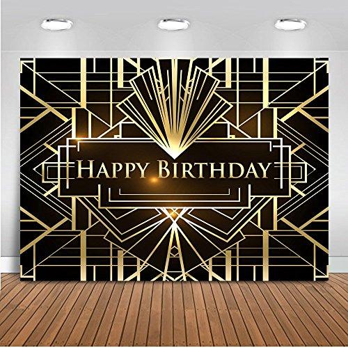 Mehofoto Geburtstag Photo Booth Hintergrund 7x5ft Große Gatsby Geburtstag Feier Kulissen Nahtlose Kinder Geburtstagsparty Fotografie Hintergrund (Hintergrund 5x7 Zusammenklappbar)