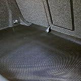 Kofferraum Antirutschmatte Gummimatte 1,2 x 1,2m (Pyramidenmatte), Farbe: schwarz, Materialstärke: 3mm