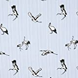 Fabulous Fabrics Popeline Streifen Stretch Kranich -
