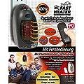 Starlyf® Fast Heater Deluxe mit Fernbedienung 400 Watt Tragbare und leistungsstarke Mini-Heizung, Thermokeramik- Technologie in Schwarz oder Weiß - Original Produkt aus TV-Werbung von Starlyf by JEWADO auf Heizstrahler Onlineshop
