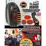 Starlyf Fast Heater Deluxe avec télécommande 400W Portable et puissant mini Chauffage, technologie Thermo Céramique dans noir ou blanc–Produit original en TV Publicité, noir