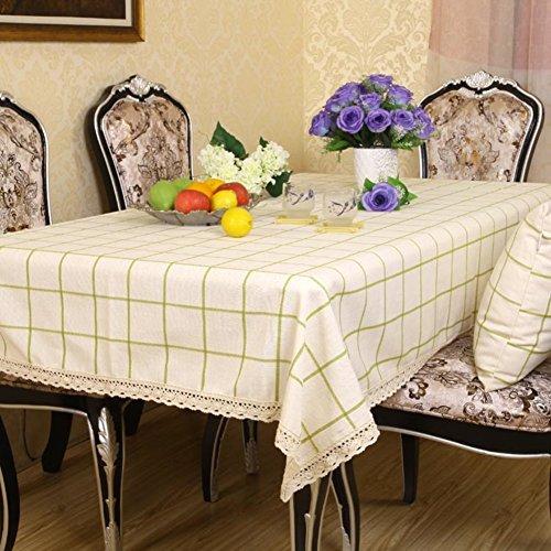 Einfache und moderne Leinen Tisch rund Tischdecke Tischdecke Stoff für Gold Seide Tischdecke deckt Tischdecke 150x200cm(59x79inch) C