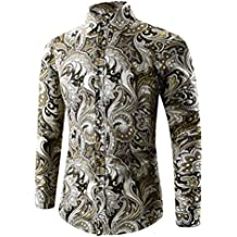 Camisa Hawaiana Hombre, Culater Manga Larga Moda Fashion Slim Fit Shirts
