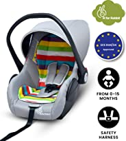 R for Rabbit Picaboo 4 in 1 Multi Purpose Baby Carry Cot,Car Seat, Rocker,Feeding Chair for Infant Babies of 0 to 15 Months