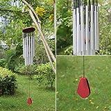 JOYOOO Klangspiel Windspiel Aluminium und Holz für Garten Die Metallteile machen einen traditionellen und wertigen Eindruck schöner Klang (27 Tubes)