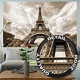 Eiffelturm Paris Fototapete - Deko Romantik XXL Wandbild Poster - tour Eiffel Paris Tapete Wanddeko 210 x 140 cm