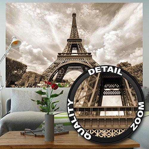 Eiffelturm Paris Fototapete - Deko Romantik XXL Wandbild Poster - tour Eiffel Paris Tapete Wanddeko...