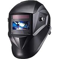 Schweißhelm, Automatik Schweißhelm mit 4 Sensoren, Optische Klasse: 1/1/1/1, Solar Schweißmaske (Variable Abdunklung 4/4…