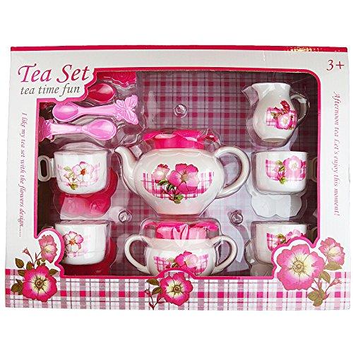 Kindergeschirr-Set 15 tlg.Set Teeservice Kaffeeservice Puppen Geschirr Kunststoff Rollenspiele Tee...
