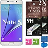 Samsung Galaxy Note 5 Screen Protector [Set of 2] – Ballistic Tempered Glass – Maximum Impact Protection - 99.99% Crystal Clear HD Glass - No Bubbles – Cell Phone DIY® Protectors Kit for Samsung Galaxy Note 5