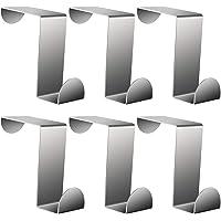 AIEX 6Pcs 6x2.5cm Over The Door Hooks Over Cabinet Door Hooks Heavy Duty Z-Shaped Hanging Hooks for Kitchen Bathroom…