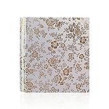 Jia Hu Vintage Floral álbum de fotos hecho a mano de piel antideslizante en Hold 200bolsillos 5cm álbumes de memoria de imagen, cumpleaños, bodas regalo