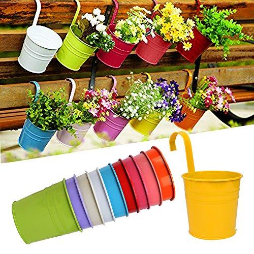 ganci-rimuovibili-10-pz-fioriera-sospesa-vaso-pensile-fioriere-in-metallo-per-piante-erbe-aromatiche
