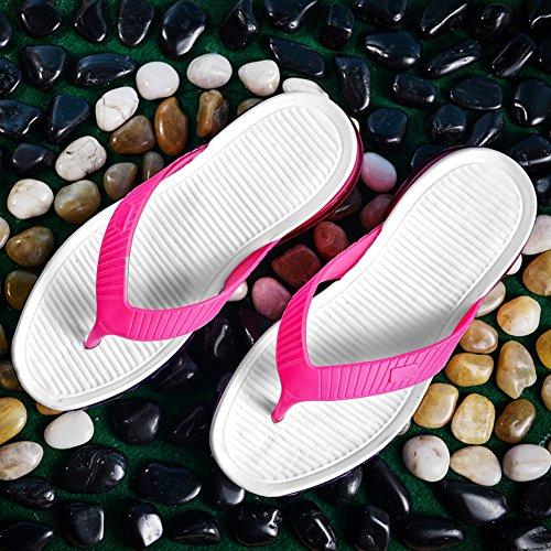 Eagsouni Hommes Femmes Tongs Flip Flops Plage Piscine Pantoufles Chaussures Sandales Rose