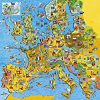 Gibsons Jigmap Europe jigsaw puzzle (200 pieces, age 7+)