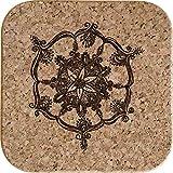 Azeeda 4 x Mandala Decorativo Posavasos de Corcho Cuadrados de 10cm (CR00149545)