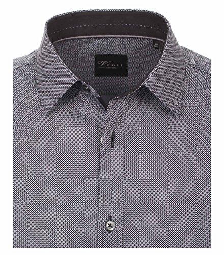 Michaelax-Fashion-Trade -  Camicia classiche  - A righe - Classico  - Maniche lunghe  - Uomo Anthrazit (750)