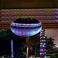 MeiKee 100 LED Solar Rope Lights, 33ft,Red/Green/Blue, Multi-color,Outdoor rope light with Light Sensor, Waterproof, Ideal for Decorations, Gardens, Lawn, Patio. Christmas, Wedding, Party.[Energy Class A+] from MeiKee