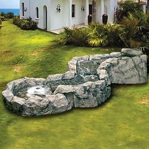 Fontana a cascata in poliresina per arredo esterno - Rocce per giardino ...