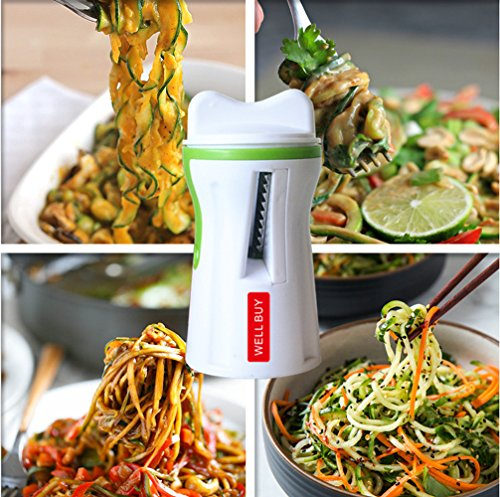 comprare on line Spirale Verdura Slicer Spiralizzatore Verdura- Well Buy Spiralizer Spirale Tagliaverdure Vegetale Spirale Pelapatate Zucchine Slicer- Verdura Spirale Vegetale Noodle Spaghetti Pasta Maker prezzo