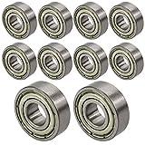 [ JBS basics ] 10 Stück [ 696 ZZ ] Kugellager [ 6 x 15 x 5 mm ] Miniatur Lager Rillen Radiallager Precicion Ball Bearing
