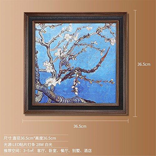 Mandeln Aprikosen (SADASD Amerikanische Wandleuchte Sofa Hintergrund Wandmalerei Lampe Dekoration Korridor Gang Wohnzimmer Schlafzimmer lackiert Leuchten, Aprikose EIN)