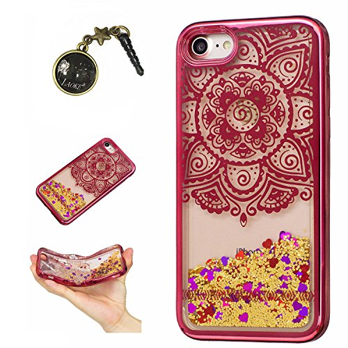 Laoke für Apple iPhone7 (4.7 Zoll) Hülle Schutzhülle Handy TPU Silikon Hülle Case Cover Durchsichtig Gel Tasche Bumper ( + Stöpsel Staubschutz) (4) 3
