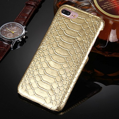 Hülle für iPhone 7 plus , Schutzhülle Für iPhone 7 Plus Snakeskin Texture Paste Skin PC Schutzhülle ,hülle für iPhone 7 plus , case for iphone 7 plus ( Color : Silver ) Gold