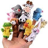CHSYOO 10 x Kleine Dier Vingerpoppetjes Pluche Cartoon Handpop Speelgoed, Cadeau voor Kinderen Verjaardag Kids Party Doop Bab