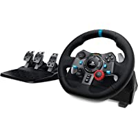 Logitech G29 Driving Force Racing Wheel and Floor Pedals, Real Force, Stainless Steel Paddle Shifters, Leather Steering…