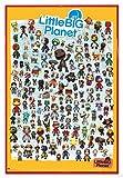 Little Big Planet 3 Poster Charaktere (94x63,5 cm) gerahmt in: Rahmen rot