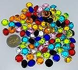 CRYSTAL KING 100 Stück 15mm große Bunte Deko-Diamanten Brillianten bunt klar basteln Gltzersteine Schmuck-Steine Strass-Steine Streu-Deko Tisch-Deko - 2