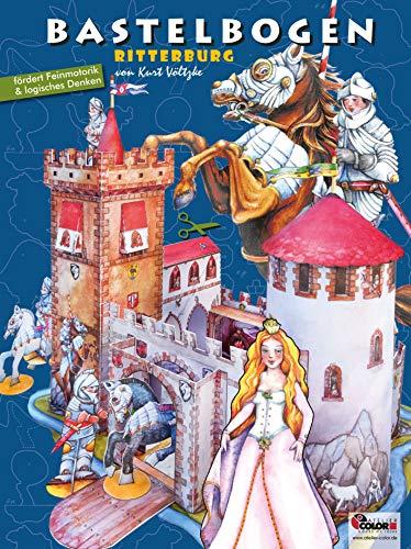 Ritterburg Bastelbogen: 3d bespielbare Burgkulisse für Ritter und Prinzessin