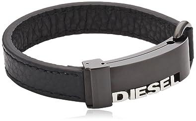 Lederarmband herren diesel  Diesel Herren Armband Edelstahl Leder 18.5 cm DX0002040-18.5 ...