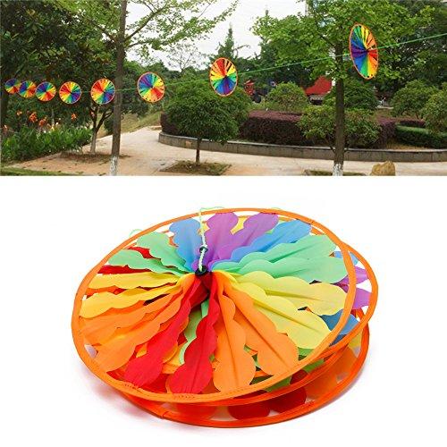 8pcs Rad Rainbow Windmill Wind Spinner Whirligig Gartenhaus Rasen Yard Decor