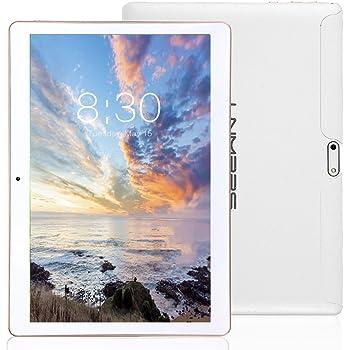 LNMBBS 3G Tablet 10 Pollici con WiFi, Quad Core, RAM 2GB, Memoria Interna 32 GB, Android 7.0, Bianca