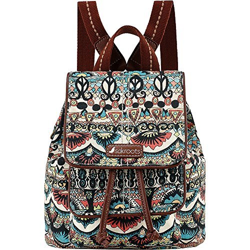 sakroots-metro-mini-flap-backpack-turquoise-brave-beauti