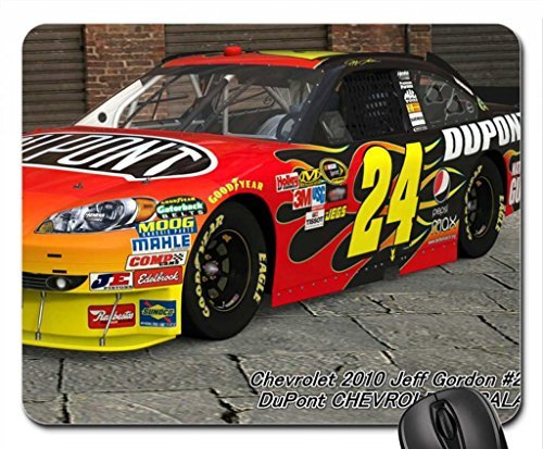 chevrolet-2010-jeff-gordon-24-dupont-chevrolet-impala-10-mouse-pad-mousepad-102-x-83-x-012-inches