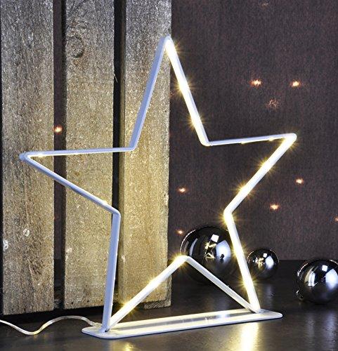LED Stern Metall zum Stellen (76826) Weihnachtsdeko Fensterdeko