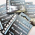 FTD - 24 (3 packs of 8) of KAMASAN B911 X-STRONG BARBLESS (Eyed) Swept Point BAIT BAND Rigs Fishing Hooks - Available in Size 12, 14, 16 & 18 - also comes with 10 FTD Barbless Hooks to Nylon