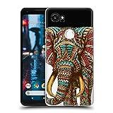 Offizielle Bioworkz Elefant Verziert 1 Bunte Wildtiere 2 Ruckseite Hülle für Google Pixel 2 XL