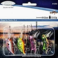 Fladen–4piece Lago di presa Mini galleggiante Wobbler esche Lure, confezione da 4a 4,5cm–2.5A 3.2g, per Pike pesce persico e lucioperca 16–7541]