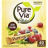 Pure Via 40 Sticks Stevia 60 g - Lot de 4