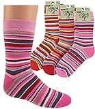 socksPur Thermo-Computer- Kindersöckchen 3er-PACK/Farben sortiert. (5-6, terrakotta-rot-pink)