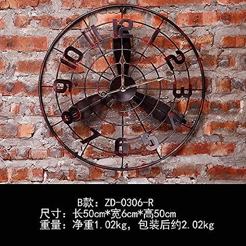 CLG-FLY moda moderna retro simple Creative Arts Europa y el salón del Reloj de pared#4