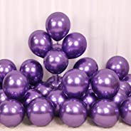 Jindal Party Products HD Metallic Finish Balloons for Birthday / Anniversary Party Decoration ( Purple ) Pack of 50